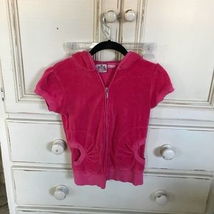 Juicy Couture short sleeve terry jacket